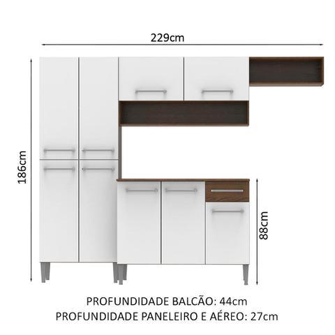 Imagem de Cozinha Compacta Madesa Emilly Top com Armário e Balcão