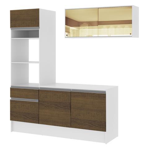 Imagem de Cozinha Compacta Madesa Glamy Lorena 7 Portas 3 Gavetas (Sem Tampo e Pia)
