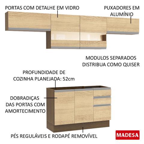 Imagem de Cozinha Compacta Madesa Marina Com Armário e Balcão (Sem Tampo e Pia)