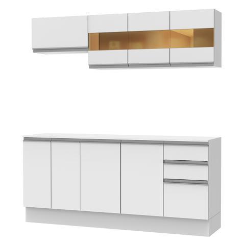Imagem de Cozinha Compacta Madesa Smart com Balcão 9 Portas 2 Gavetas 100 MDF