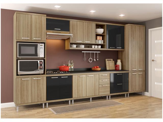 Imagem de Cozinha Compacta Multimóveis Sicília com Balcão
