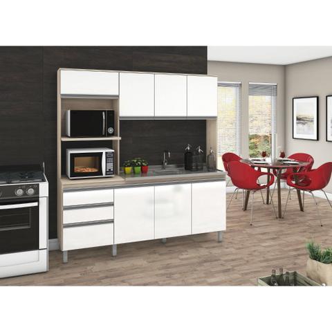 Imagem de Cozinha Compacta Nicho Duplo B112 sem Tampo 8 Portas e 2 gavetas Briz