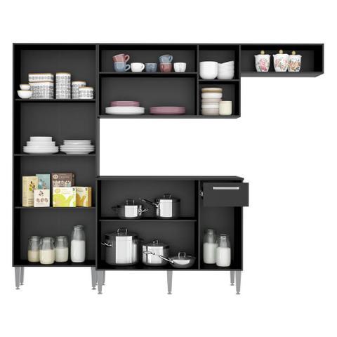 Imagem de Cozinha Compacta Pequim 9 Portas MP2933 Multimóveis Preto