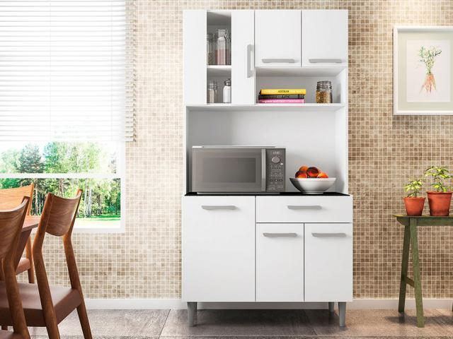 Imagem de Cozinha Compacta Poliman Carol 6 Portas