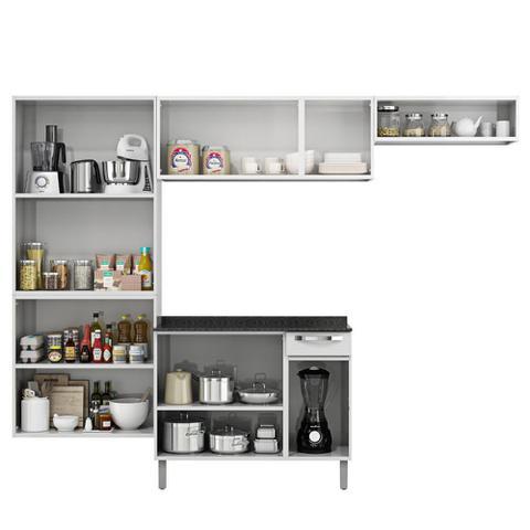 Imagem de Cozinha Compacta Rose 10 Portas 1 Gaveta Aço Itatiaia