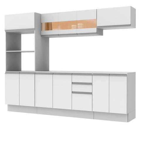 Imagem de Cozinha Completa 100% MDF Madesa Smart 250 cm Modulada Com Balcão e Tampo