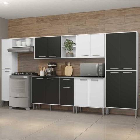 Imagem de Cozinha Completa Armário e Balcão Xangai Blues Multimóveis