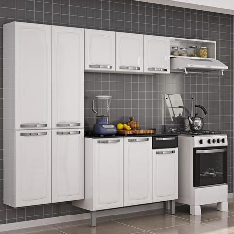 Imagem de Cozinha Completa com Balcão Rose Itatiaia Branco/Preto