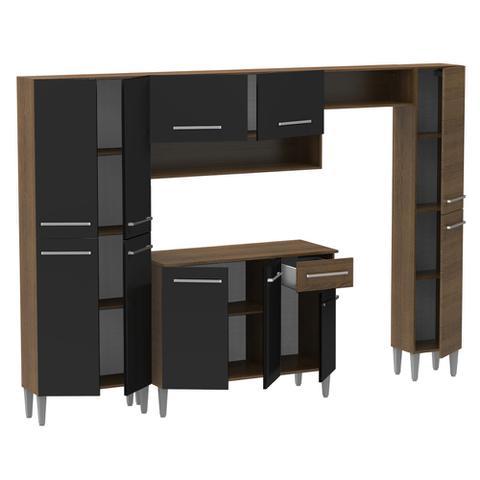 Imagem de Cozinha Completa Compacta Madesa Emilly com Armário e Balcão