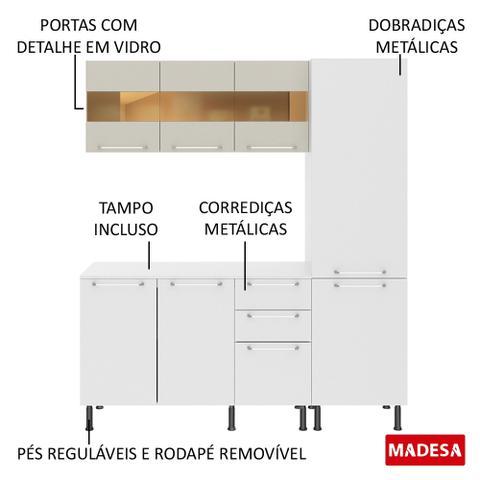 Imagem de Cozinha Completa Compacta Madesa Lara com Armário e Balcão