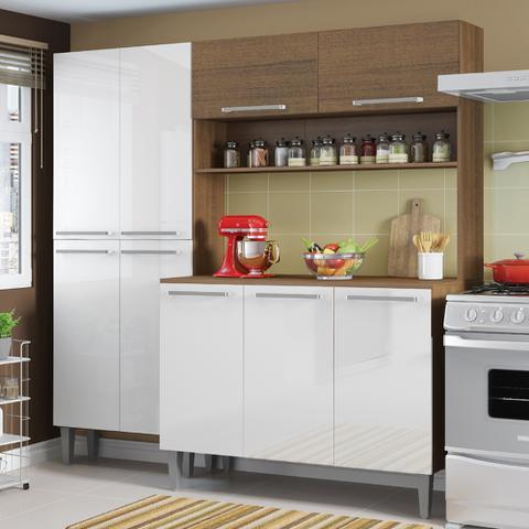 Imagem de Cozinha Completa Compacta Madesa Star com Armário e Balcão