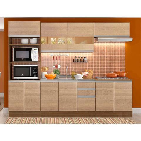 Imagem de Cozinha Completa Glamy 10 PT 3 GV Rustic e Saara