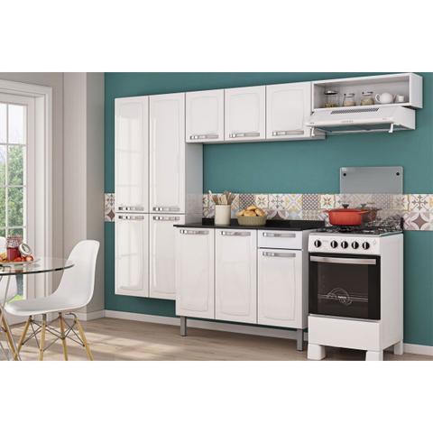 Imagem de Cozinha Completa Itatiaia Rose de Aço 3 Peças Branco