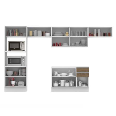 Imagem de Cozinha Completa Madesa 100% MDF Acordes Glamy 2 gavetas 10 Portas (Sem Tampo e Pia)