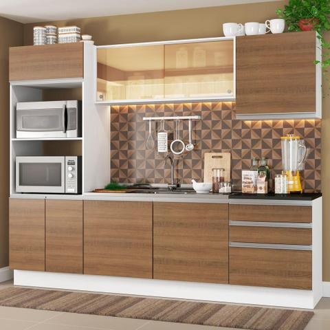 Imagem de Cozinha Completa Madesa 100% MDF Acordes Glamy com Armário, Torre e Balcão (Sem Tampo e Pia)