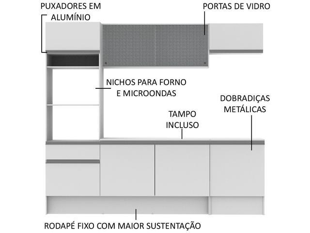 Imagem de Cozinha Completa Madesa Ametista G20088 com Balcão