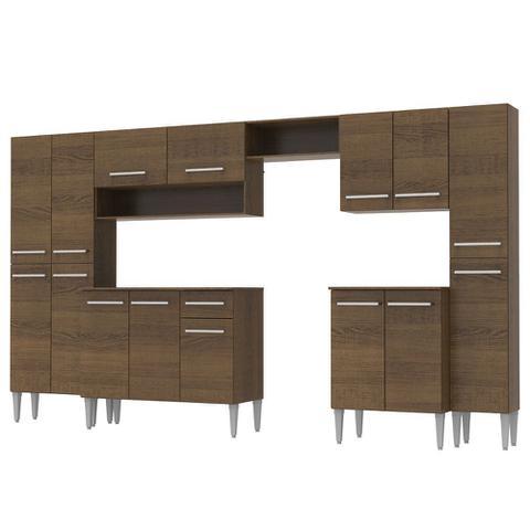 Imagem de Cozinha Completa Madesa Emilly 325com Armário e Balcão 15 Portas 1 Gaveta