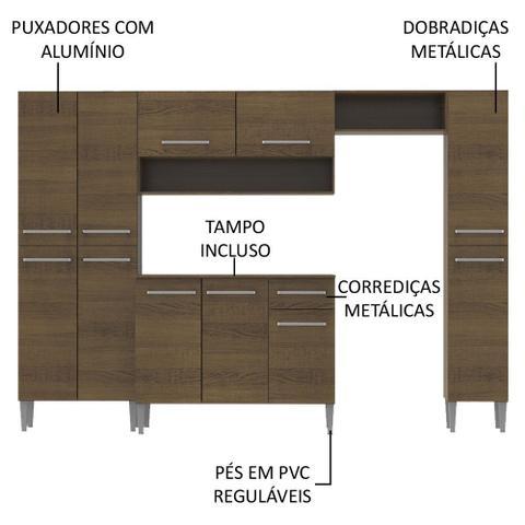 Imagem de Cozinha Completa Madesa Emilly com Armário e Balcão