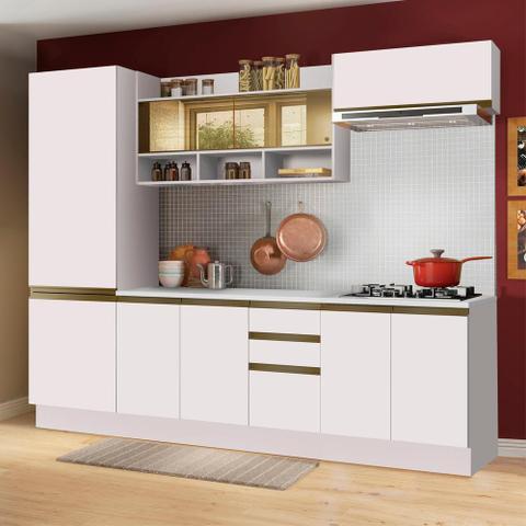 Imagem de Cozinha Completa Madesa Glamy New Com Armário, Balcão e Tampo