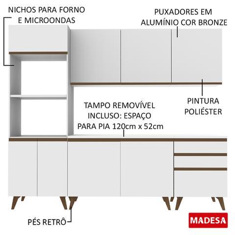 Imagem de Cozinha Completa Madesa Reims com Balcão - 8 Portas 3 Gavetas