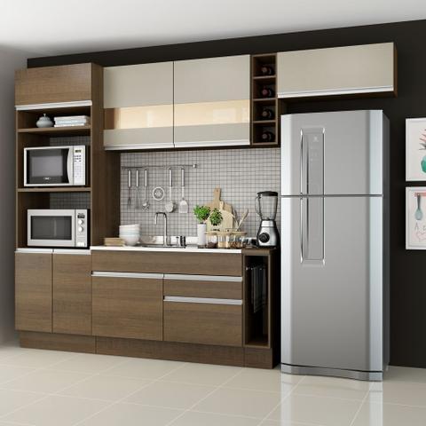Imagem de Cozinha Completa Madesa Safira com Armário e Balcão (Sem Tampo e Pia)