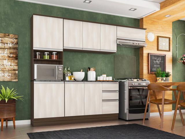 Imagem de Cozinha Completa Poliman Móveis Paris