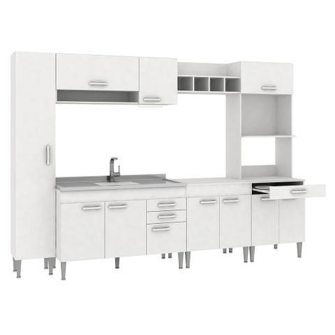 Imagem de Cozinha Completa Sem Tampo 11 Portas Cc03 Branco