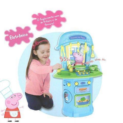 Imagem de Cozinha de Brinquedo Fogão Eletrônico Peppa Pig