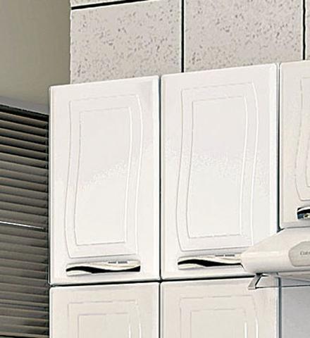 Imagem de Cozinha em aço Colormaq Ipanema 3 Peças com 11 portas e Armário Triplo com Vidro-Branco e Preto
