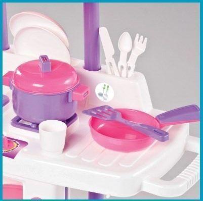 Imagem de Cozinha Infantil C/ Rodas Riva Chef Completa Calesita 1302