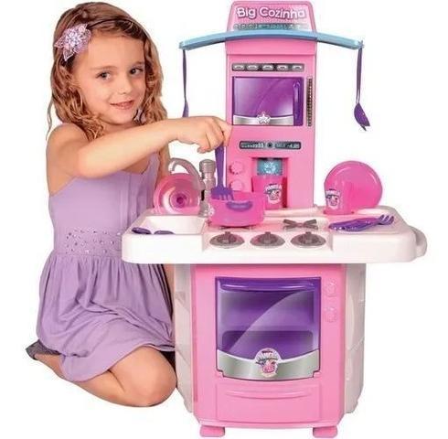 Imagem de Cozinha Infantil Classic Kit Com Fogão Pia Geladeira Bigstar 16 Peças 68cm de Altura 630