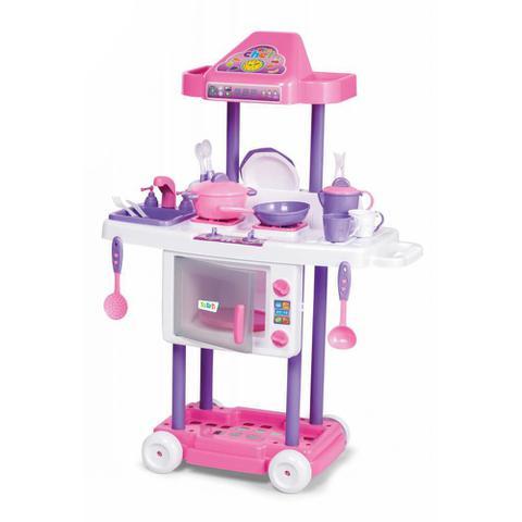 Imagem de Cozinha Infantil Com Rodas Calesita Tateti Riva Chef 3+