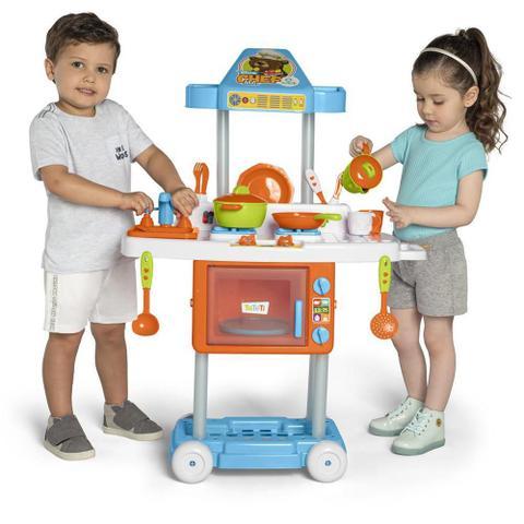 Imagem de Cozinha Infantil Com Rodas Calesita Tateti Riva Mr. Chef 3+