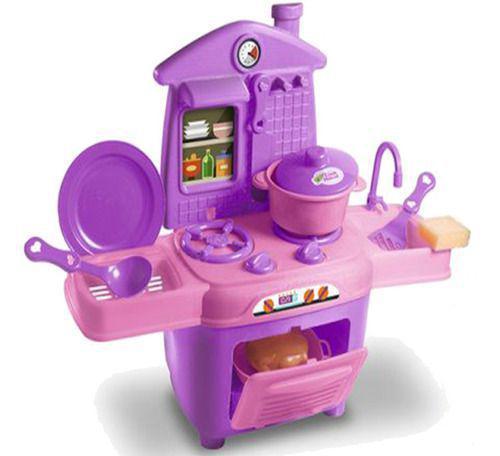 Imagem de Cozinha Infantil Completa Fogão Forno Pia Acessórios Oferta