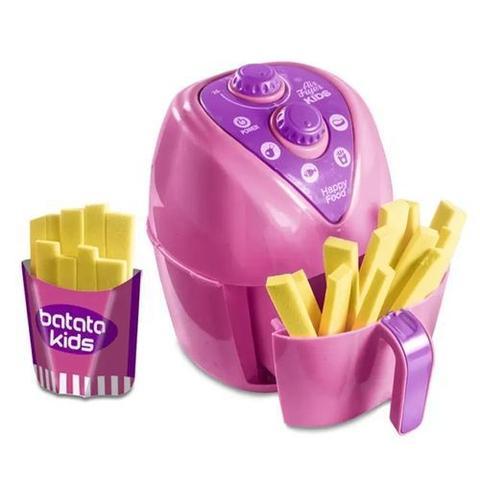 Imagem de Cozinha infantil Mini Air Fryer kids c/ batatinha fritadeira de brinquedo