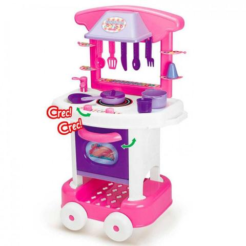 Imagem de Cozinha Infantil Rosa Forno Fogão E Pia Brinquedos Play Time