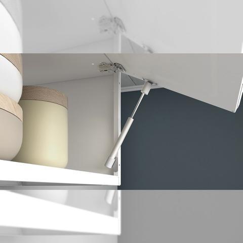 Imagem de Cozinha Itatiaia Luce Armários Aéreos 4 Portas 3 Vidros Branco /Vermelho