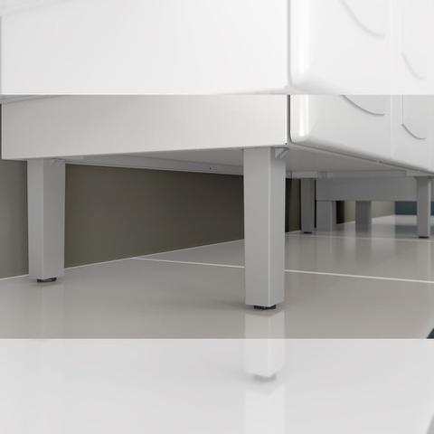 Imagem de Cozinha Itatiaia Luce com Armários Aéreos e Balcão 2 Gavetas 8 Portas 3 Vidros Branco