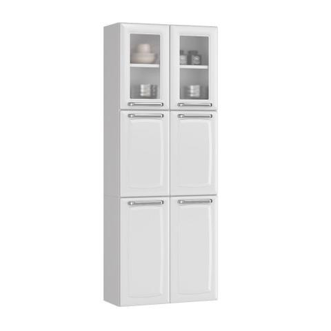 Imagem de Cozinha Itatiaia Luce Compacta 3 Pecas 2 Vidros Branco Paneleiro Armario Aereo