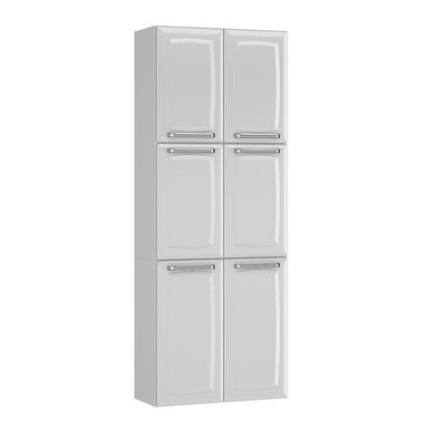 Imagem de Cozinha Itatiaia Luce Compacta 4 Pecas 3 Vidros Branco Paneleiro Armario Aereo Gabinete