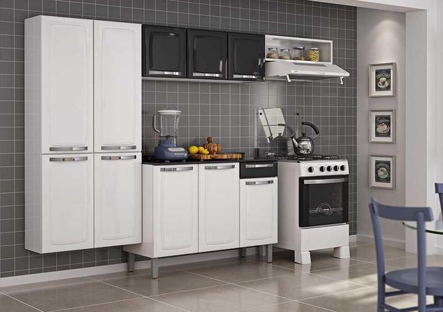 Imagem de Cozinha Itatiaia Rose Aço 4 Peças COZ IG3G1-105 Branco/Preto