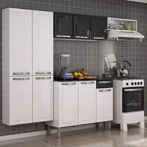 Imagem de Cozinha Itatiaia Rose Compacta 4 Pecas Branco/Preto