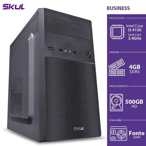 Desktop Skul Business B300 B41305004 I3-4130 3.40ghz 4gb 500gb Intel Hd Graphics Linux Sem Monitor