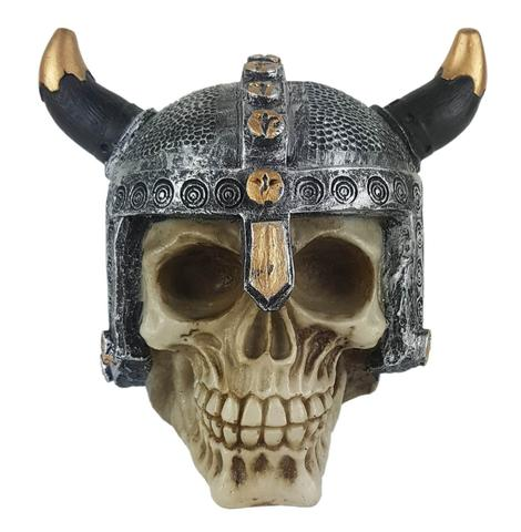Imagem de Crânio Caveira soldado Viking medieval capacete Grande.