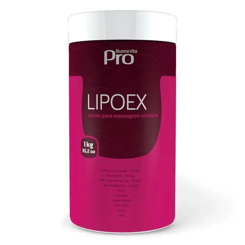 Imagem de Creme Lipoex Para Massagem Corporal Buona Vita Pro 1kg