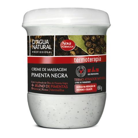 Imagem de Creme termoativo oleo de pimenta negra 650g dagua natural