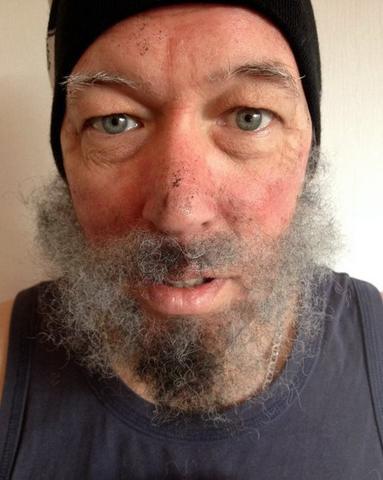 Imagem de Crepe Hair -Cabelo crepe de lã para bigodes falsos e Pêlos faciais- Cor:DK auburn