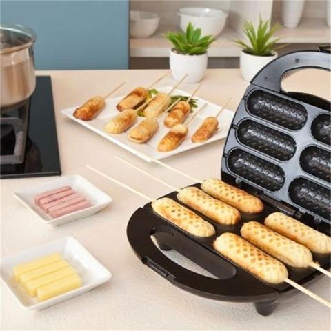 Imagem de Crepeira E Hot-dog Elétrica Antiaderente Sm-680 Steammax