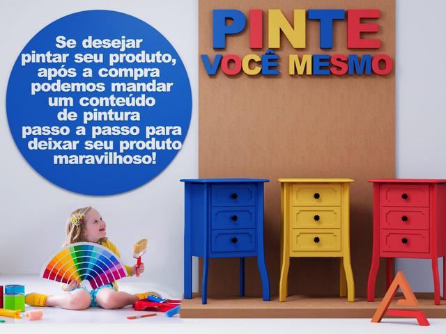 Imagem de Criado Mudo 3 Gavetas Cama Casal Cabeceira Mesinha de Canto