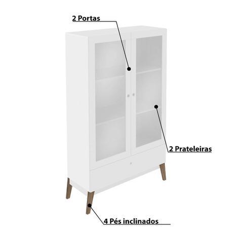 Imagem de Cristaleira 2 Portas e 1 Gaveta GenialFlex - Branco
